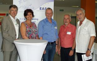 EASC-Vorstand: Mathias Hofmann, Susanne Rieger, Volker Tepp, Daniel Frei, Jan Koznar (v.l.n.r.)